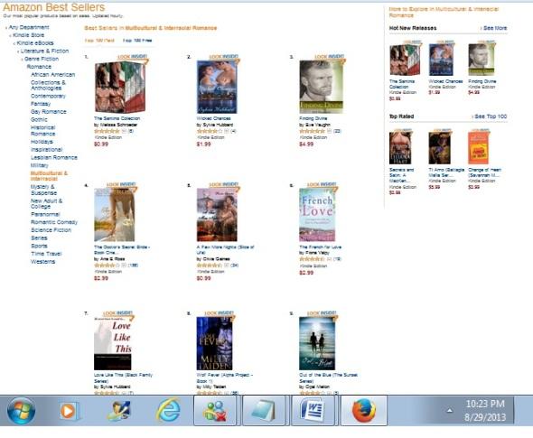 Bestsellers 8-29-13
